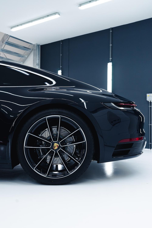 black car in a room