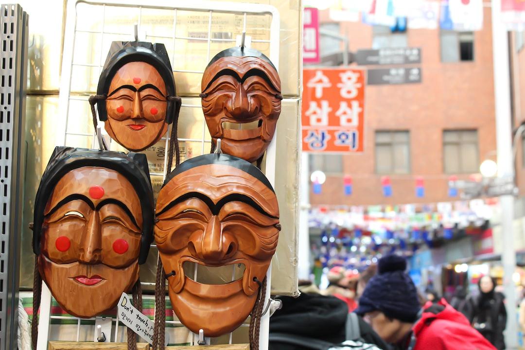 Traditional Korean Masks Used for Skits