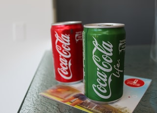coca cola can on table