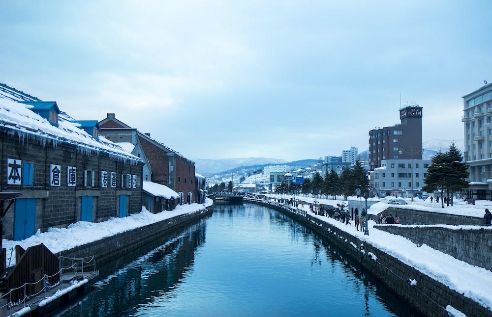river between buildings during daytime