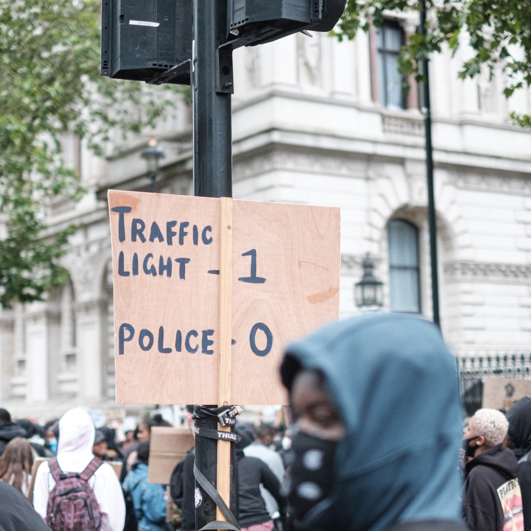 London Black Lives Matter Peaceful Protest from Vauxhall to Westminster.