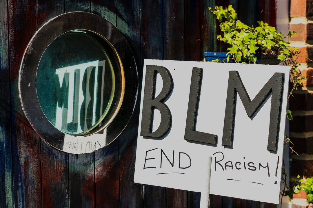 A sign, supporting the current Black Lives Matter campaign