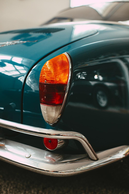 black car with orange light