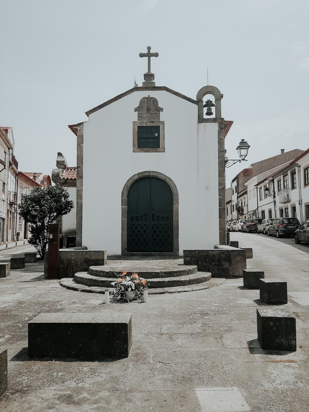 white and brown concrete church
