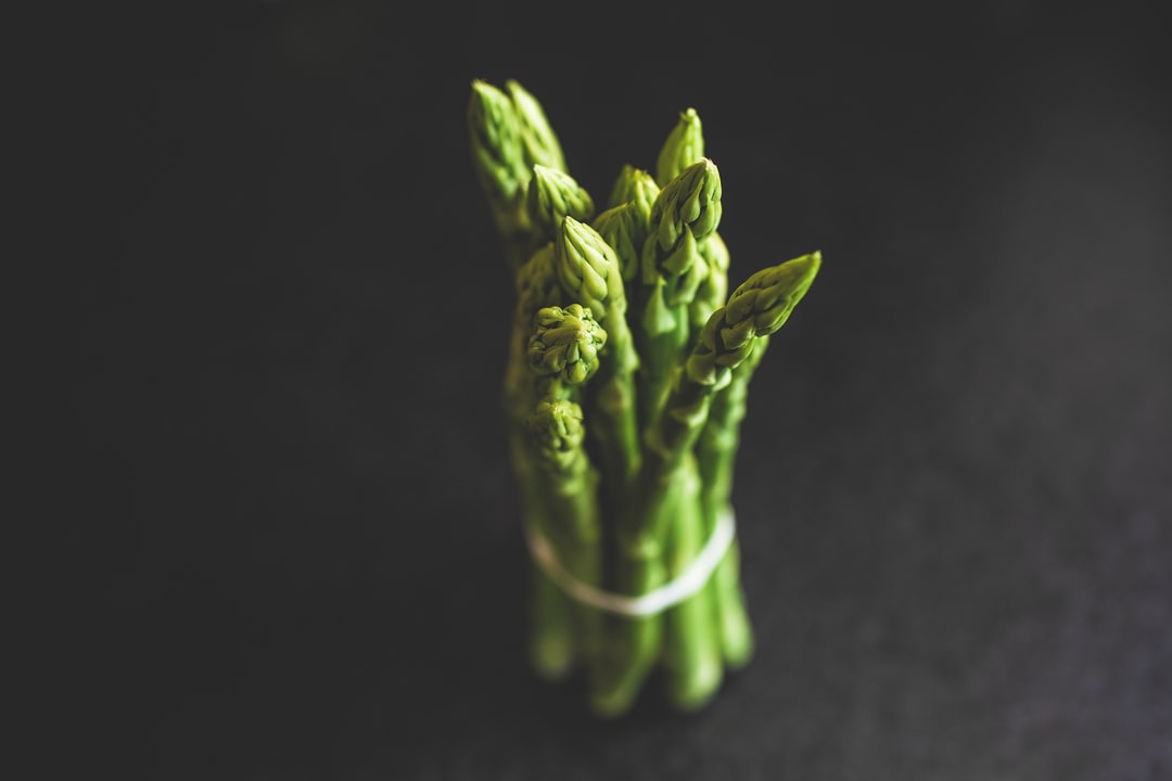 Fresh green bio quality asparagus from the local farmers market. Support your local farmers.