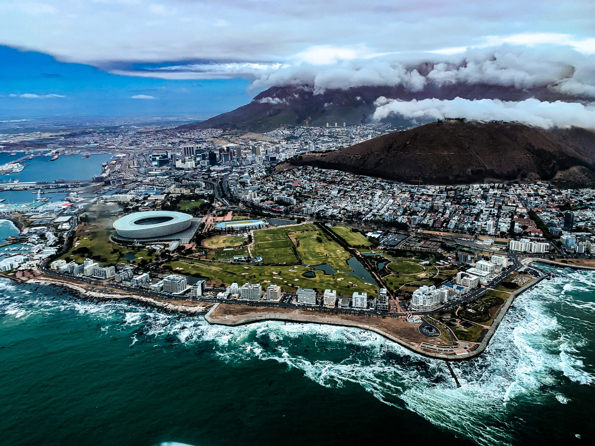Perspectives from above of Cape Town