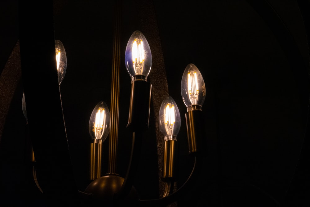 silver and gold heart pendant lamps