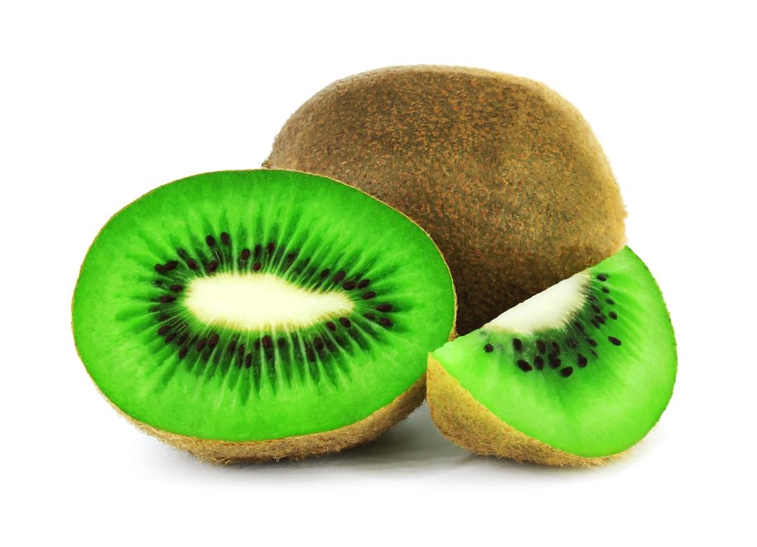 Kiwi fruit isolated on white background. Clipping Path.