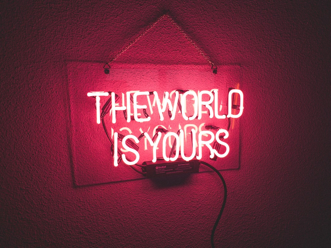 Neonlight in red