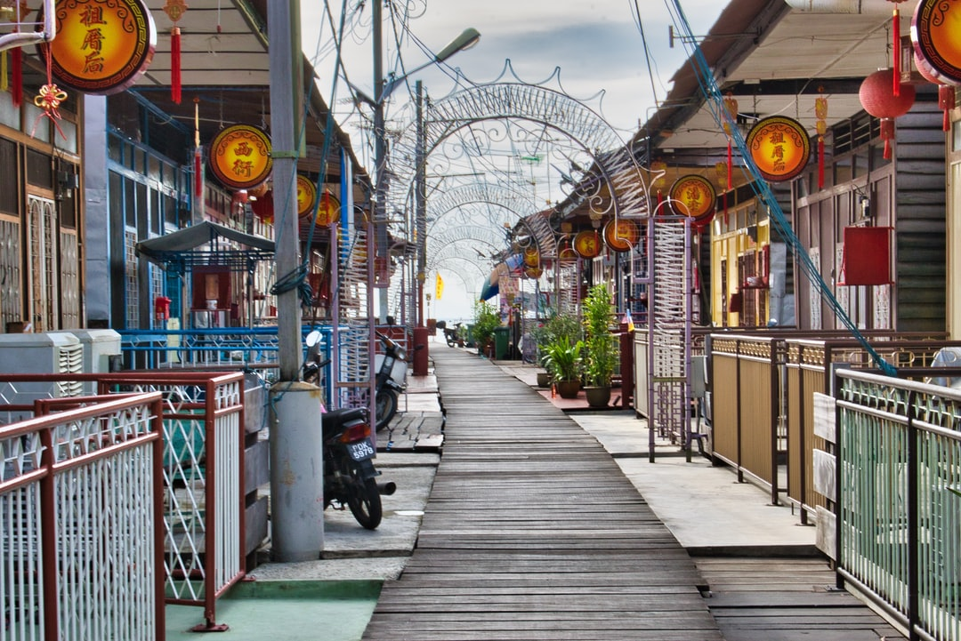 Houses on stilts in Penang
