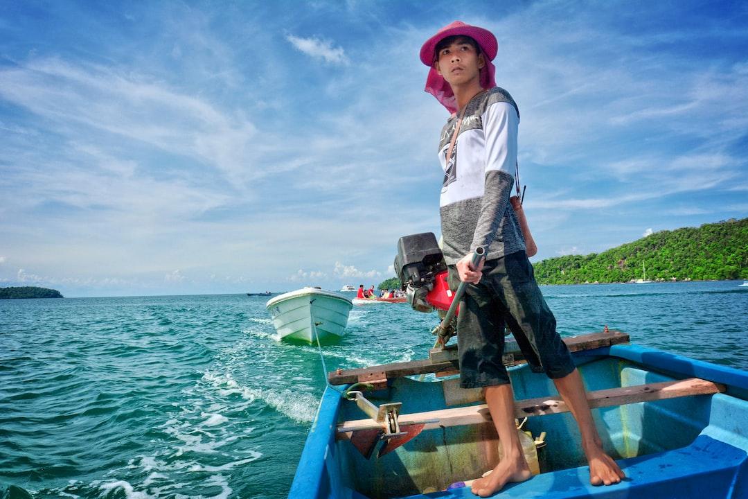 Khmer Boy in a boat