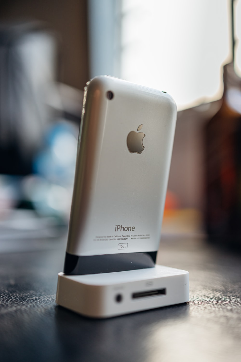 silver iphone 6 on white box