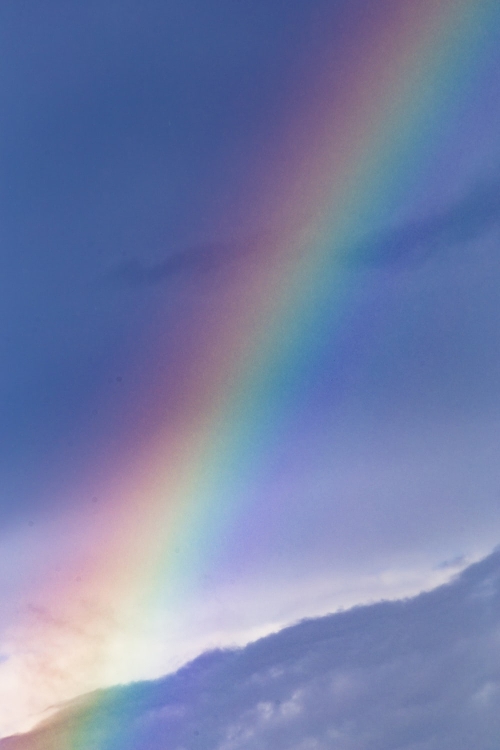 rainbow over the clouds during daytime