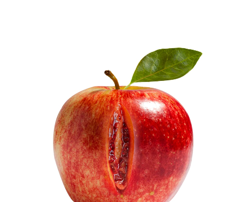 red apple with white background