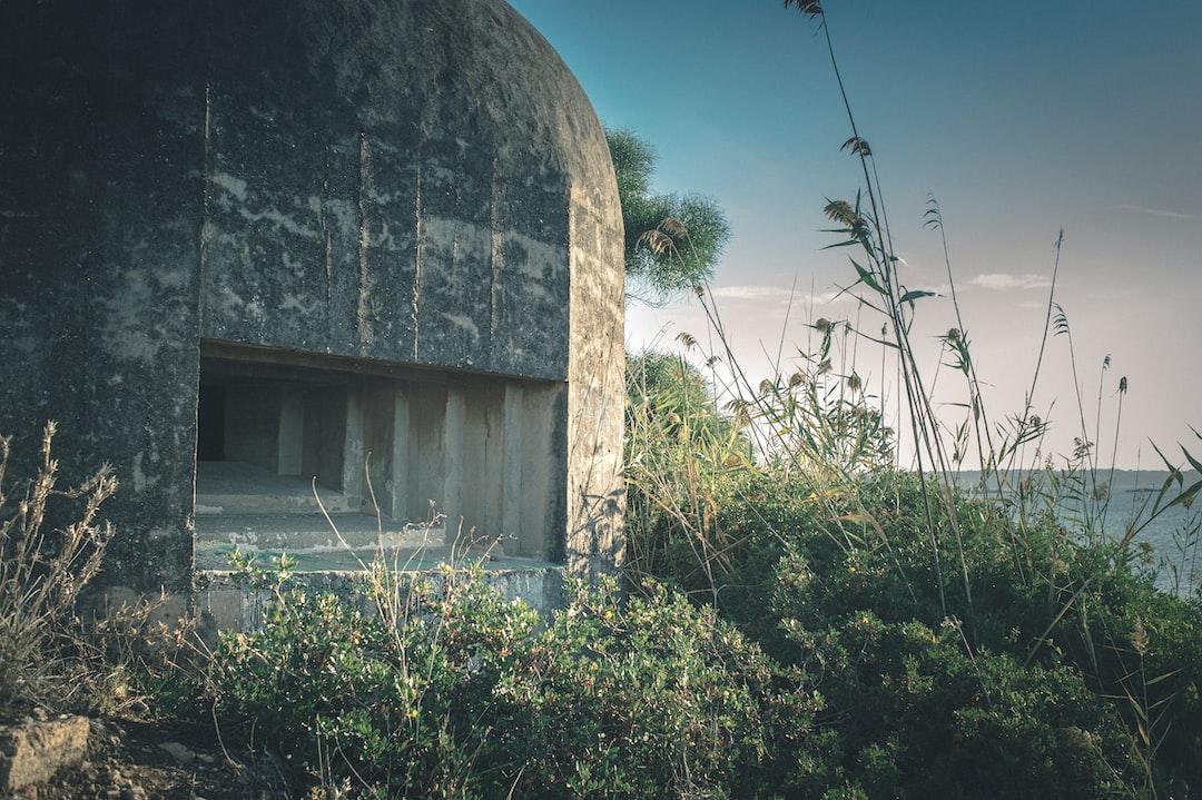 World War II pillbox on the coast of Sicily.