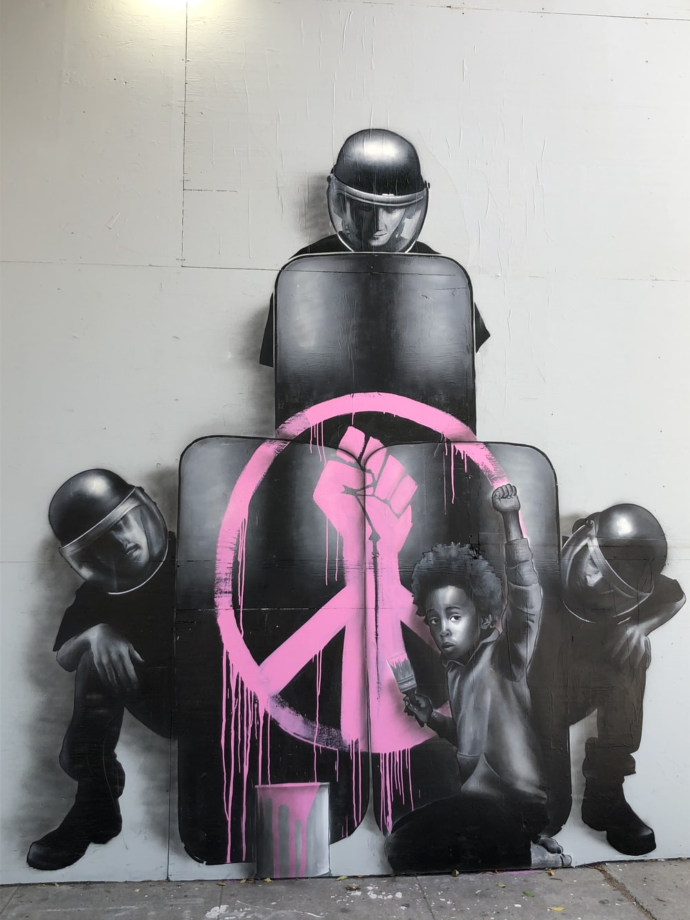 black and pink robot toy