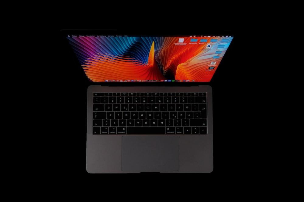 macbook pro on white background