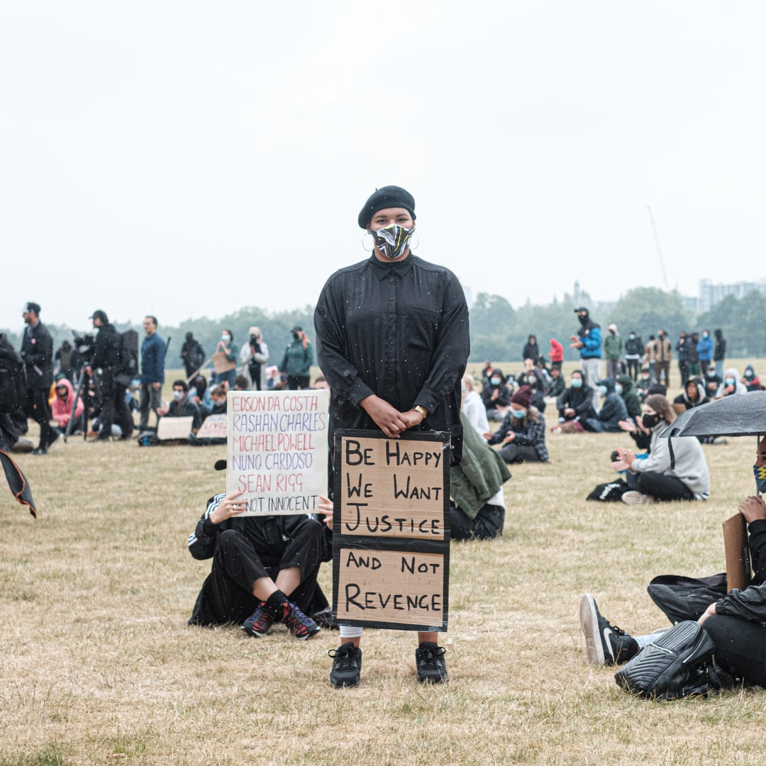 London Black Lives Matter Peaceful Protest from Hyde Park to Trafalgar Square via Buckingham Palace