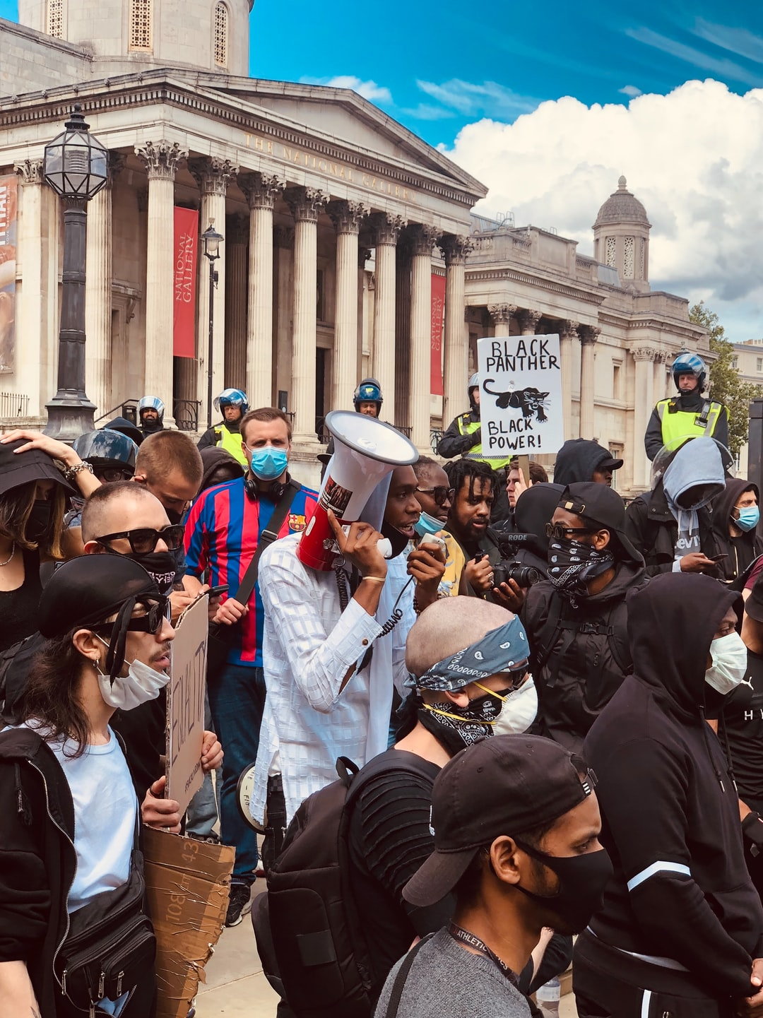 Black lives matter protests, London.