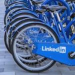 blue bicycle on gray concrete floor