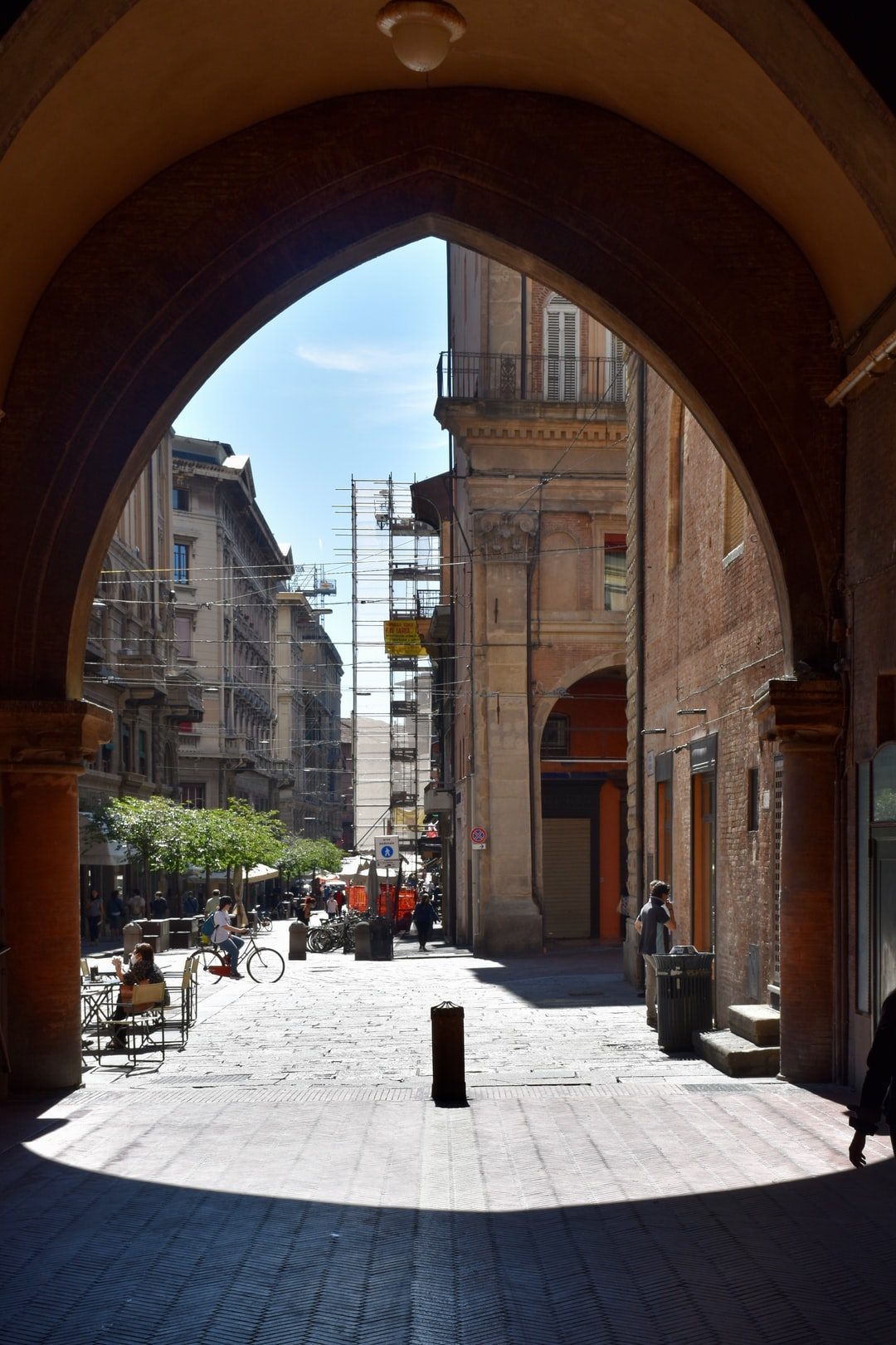 A large gate in King Enzos Palace in Bologna.