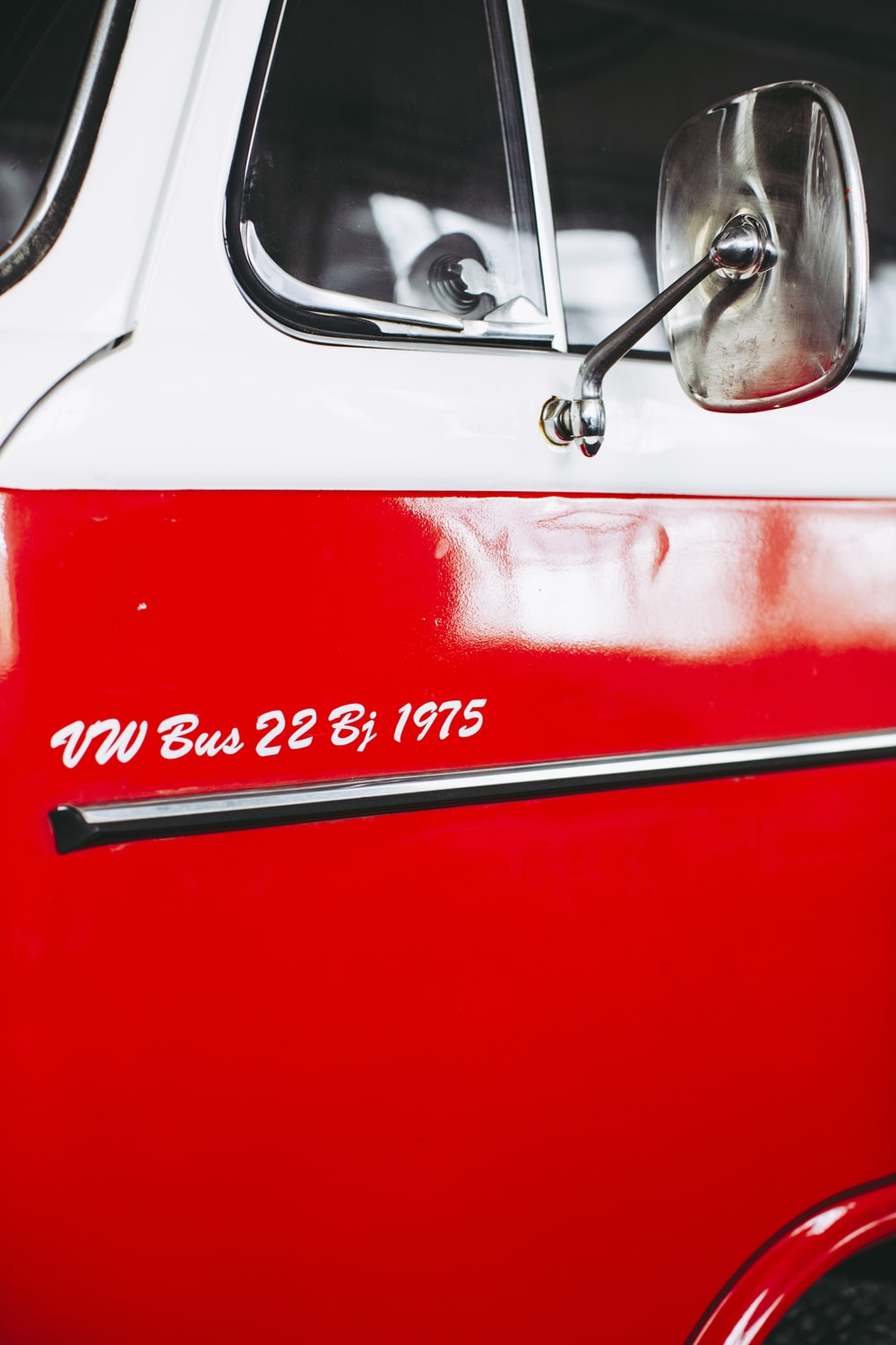 red and silver car door