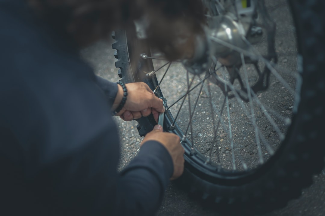 Motorcycle wheel repair.