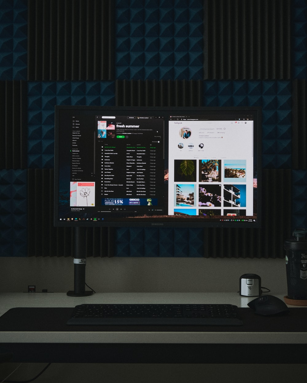 black flat screen computer monitor