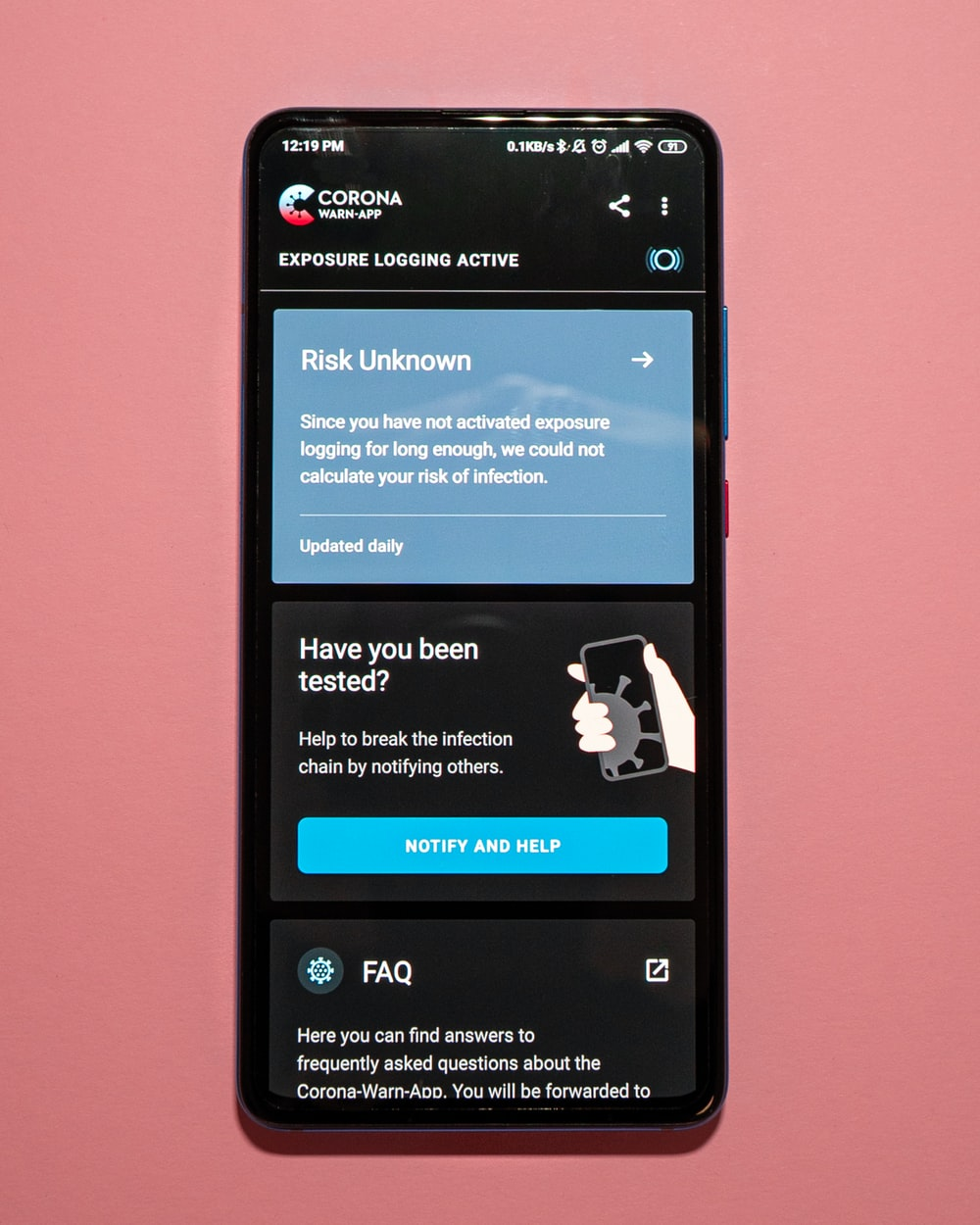 black android smartphone displaying facebook application