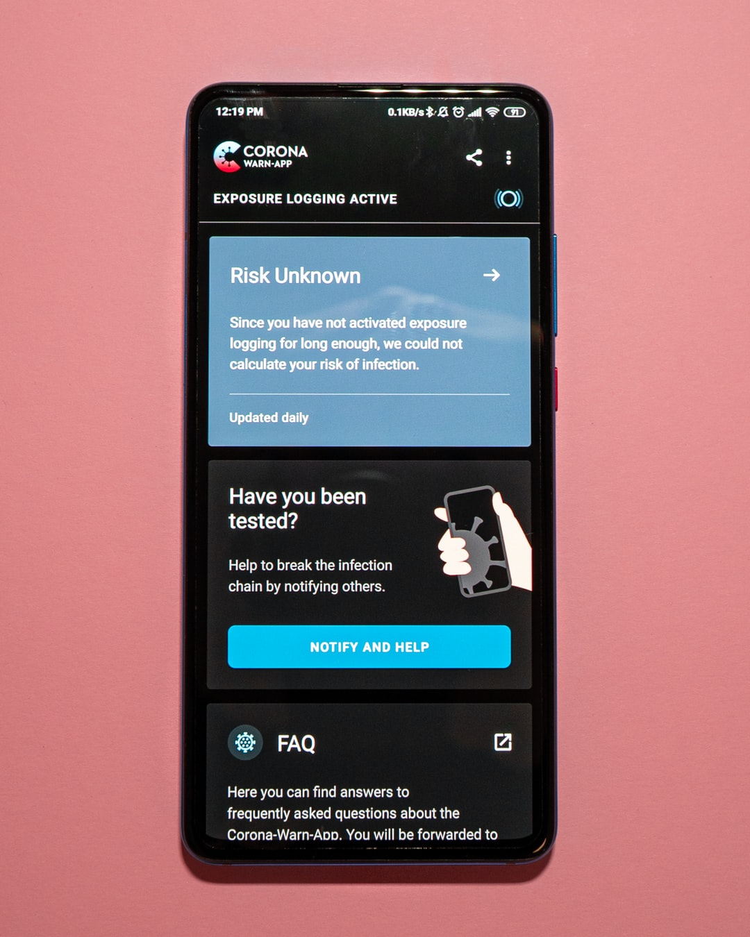 The official Corona App by the german government started on 16/06/2020. It enables Exposure Logging for Covid-19 cases all over the country. This is the Android version.