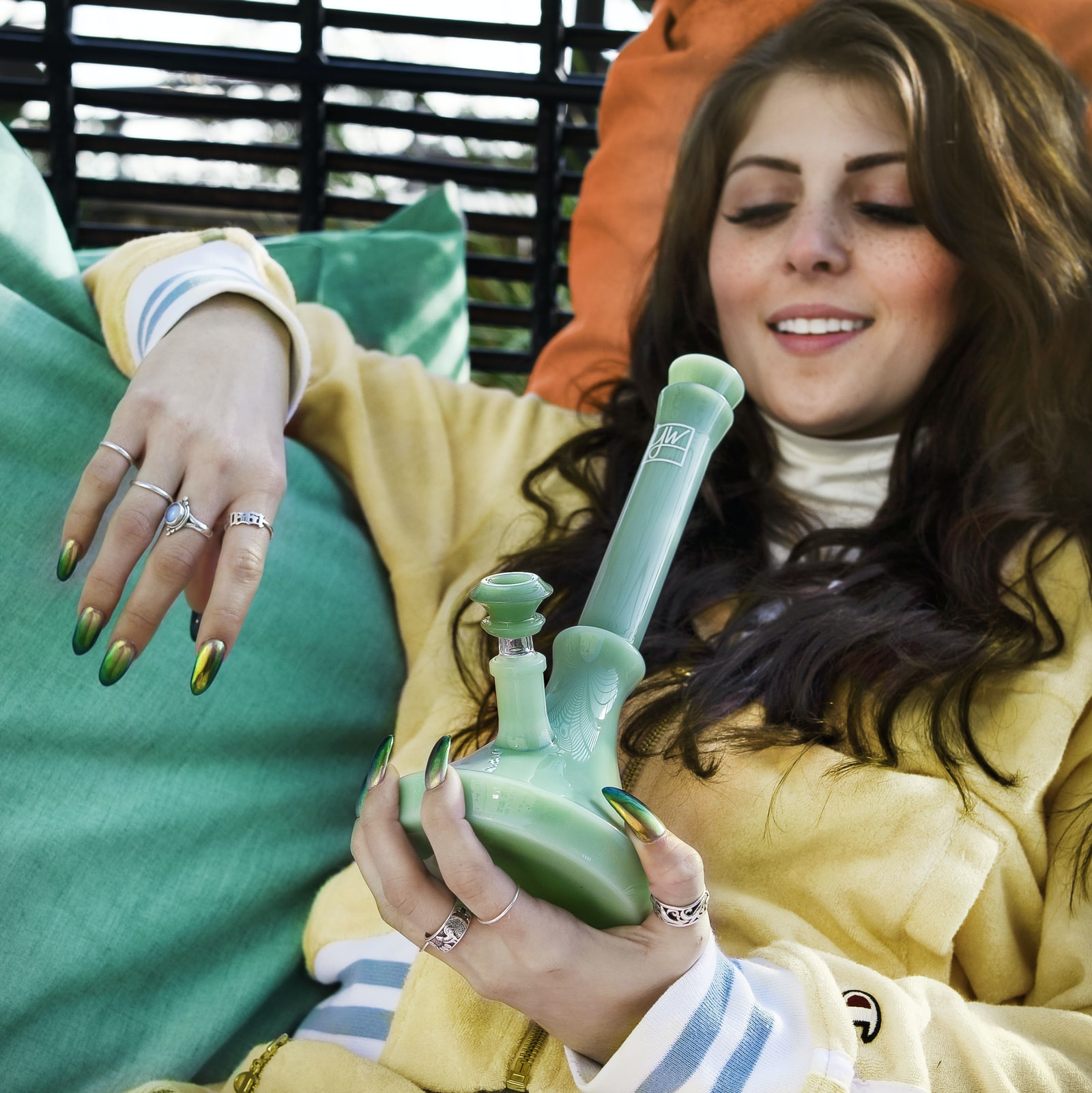 girl smoking cannabis