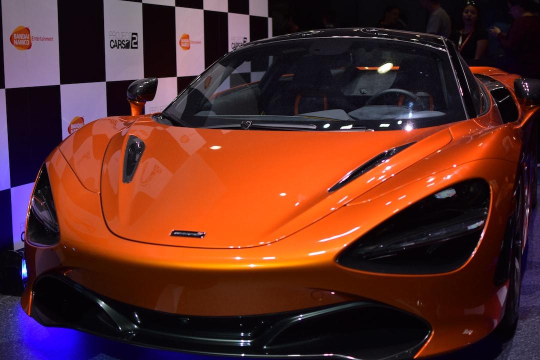 A McLaren P1 at E3 2017.