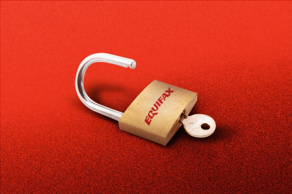 brown padlock on red textile