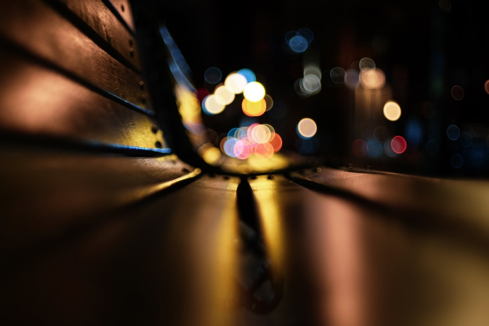 bokeh photography of city lights during night time