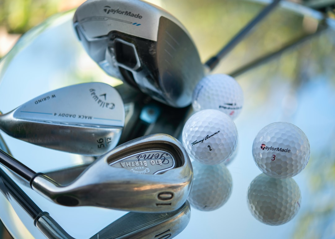 Close up shot of clubs and balls.