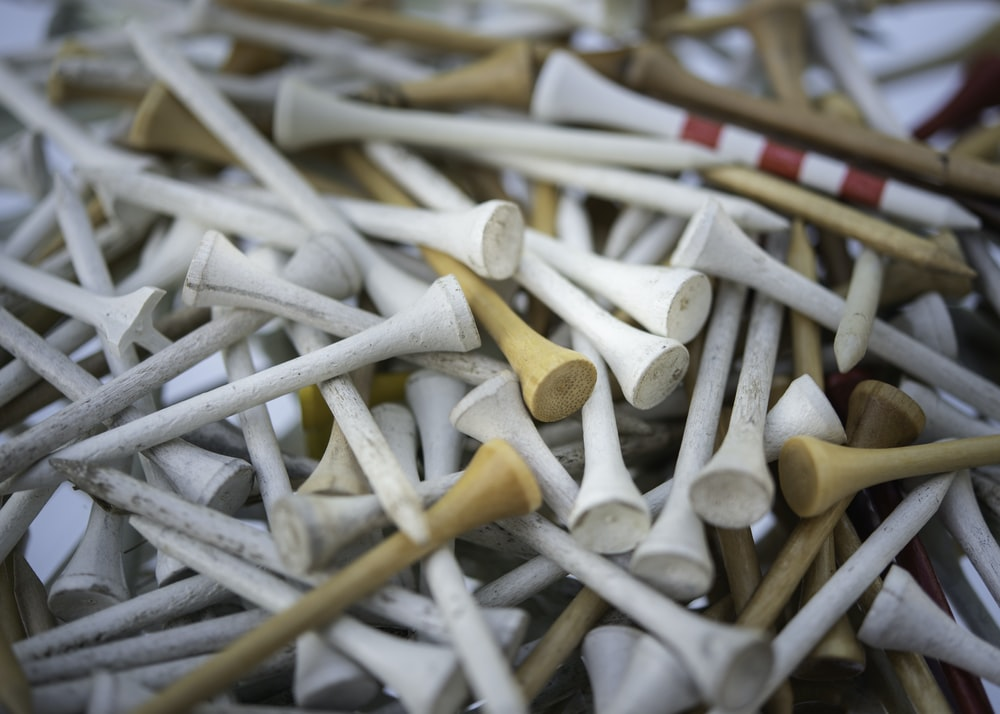 white and brown wooden sticks