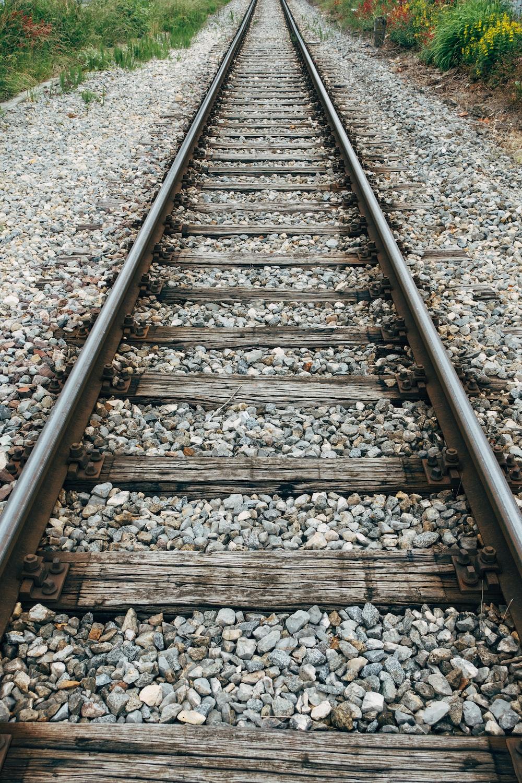 brown and gray train rail