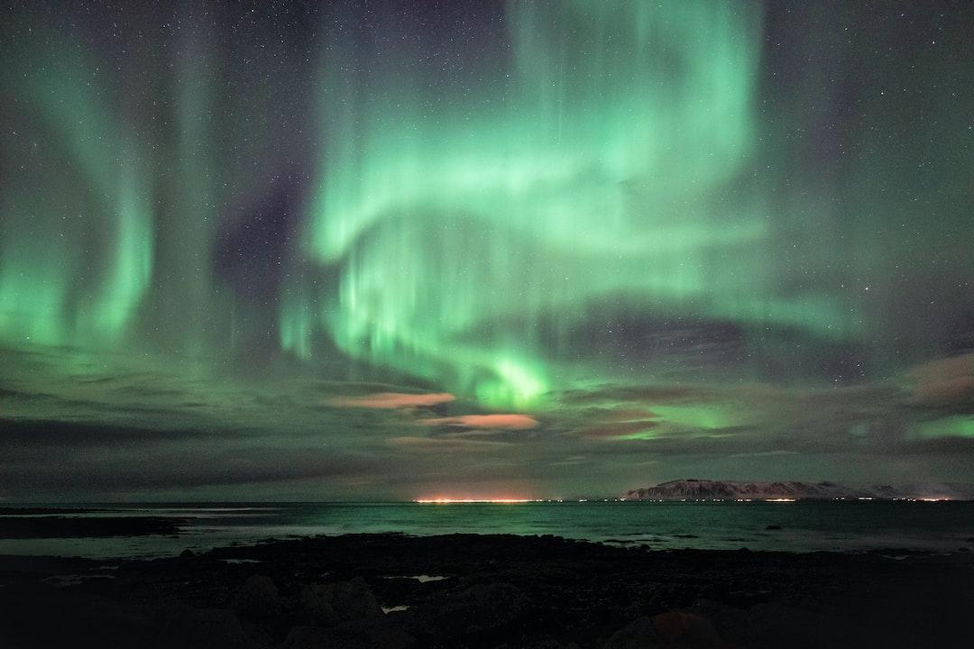 Epic Aurora Borealis over Reykjavik, Iceland