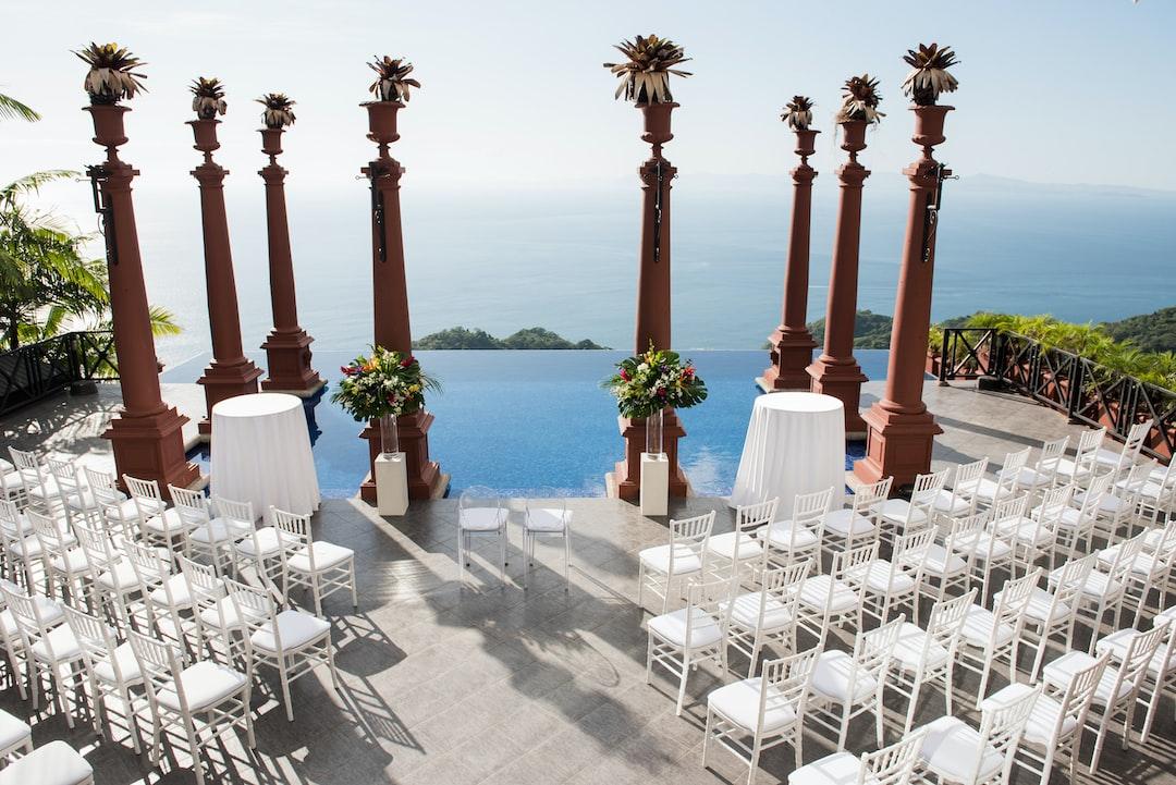 Zephyr Palace wedding ceremony in Herradura near Jaco, Costa Rica. Destination wedding location. Travel and tourism.