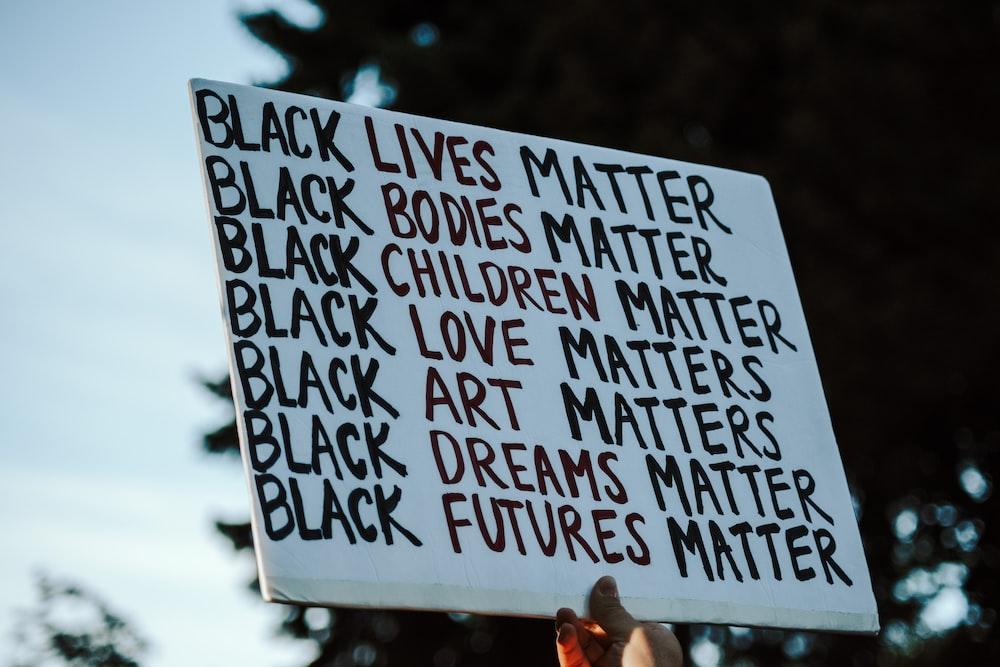 white and black quote board
