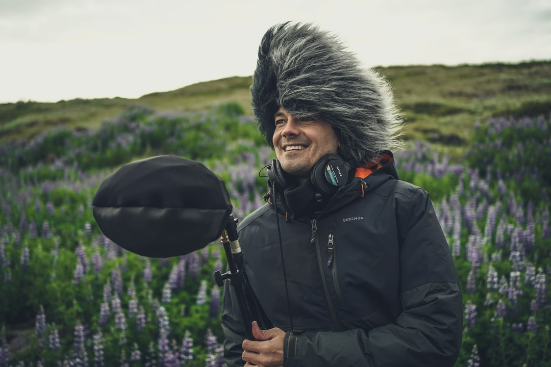 Sound recording in Iceland with Cinela Albert & wnd protection that I liked to wear myself :).