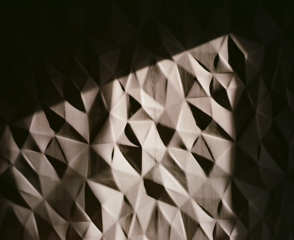 brown and black checkered textile