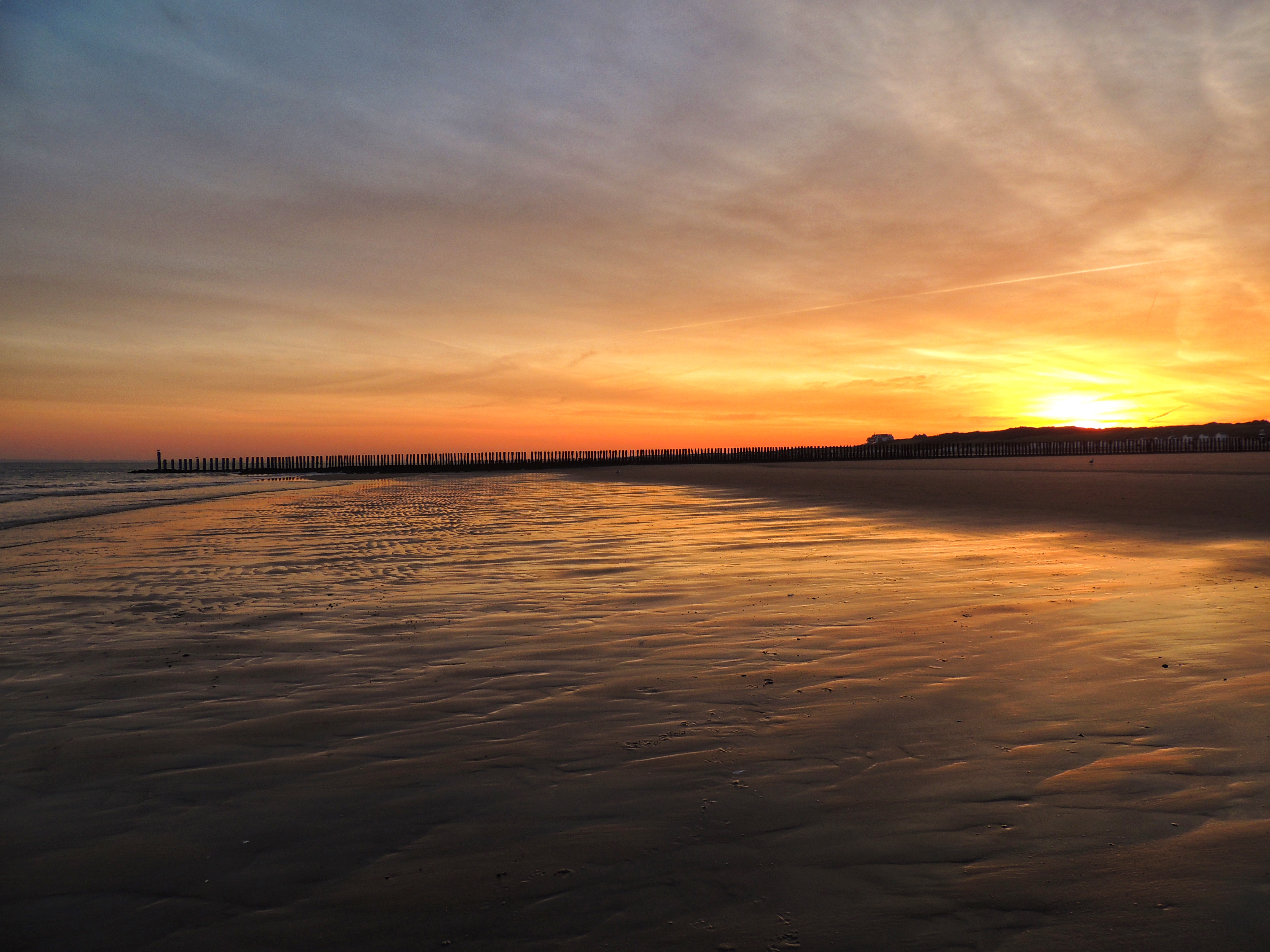 Beautiful sunset at the beach.