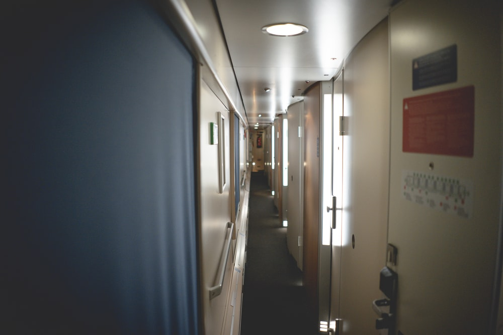 white ceiling light turned on in a room