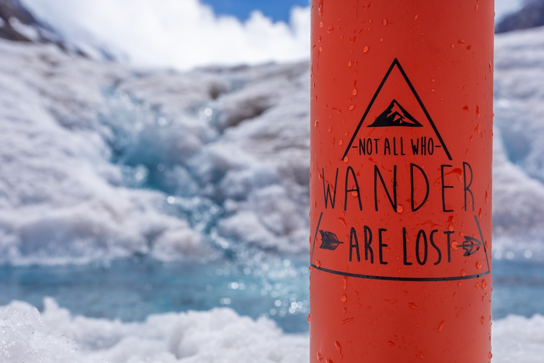 I took this photo of my water flask at the top of the Athabasca Glacier, I had filled it up with pure glacial water running from the stream behind. This was a day trip out to the Columbia Icefields Adventure, in Jasper National Park, along the Icefields Parkway which is 1000000% the best drive in the world!