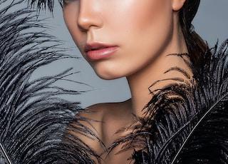 woman in black fur jacket