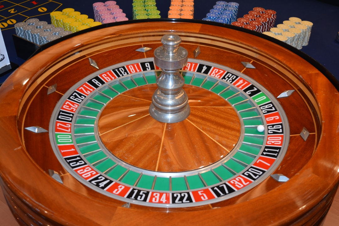 Roulette wheel in a casino for gambling entertainment
