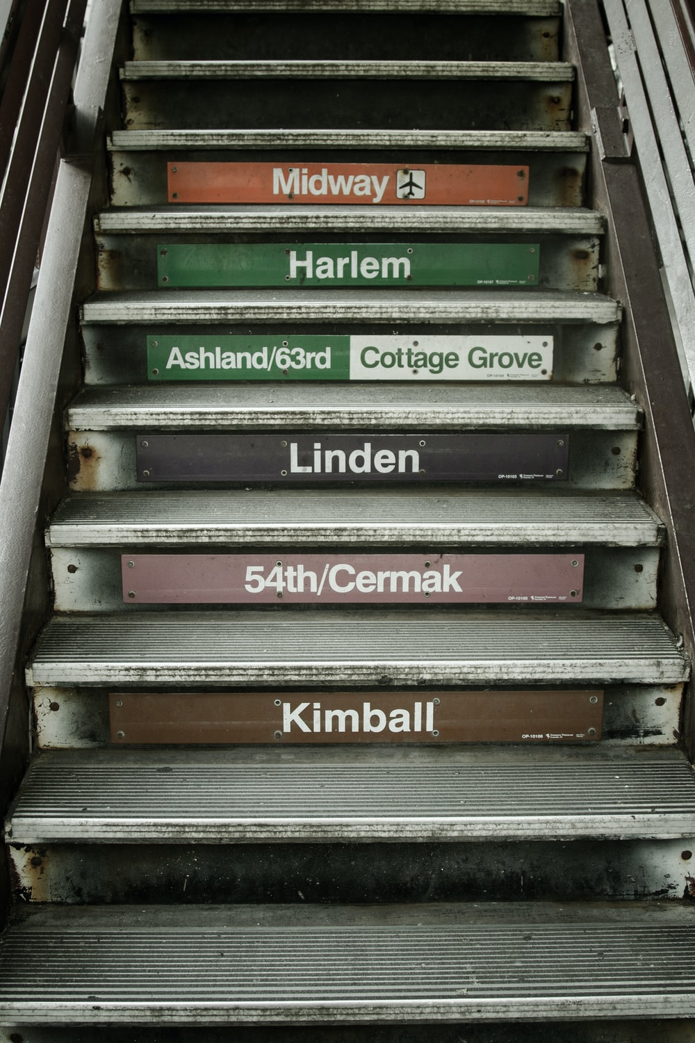 green and gray wooden signage