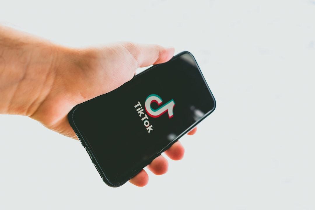 iPhone displaying the TikTok app