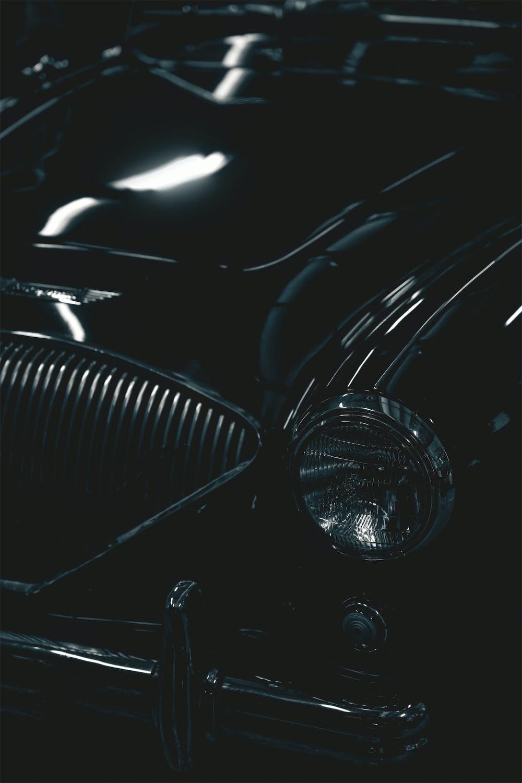 black car with white light